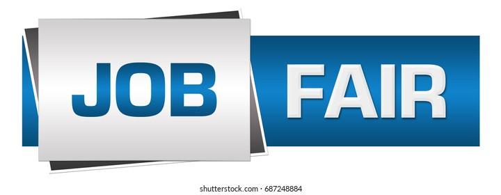 Job Fair Blue Grey Horizontal