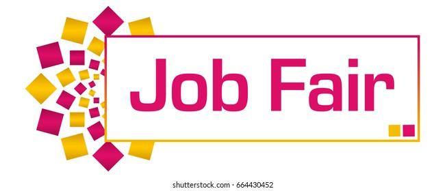 Job Fair Pink Gold Circular Bar