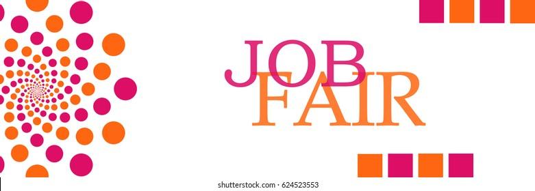 Job Fair Pink Orange Dots Horizontal