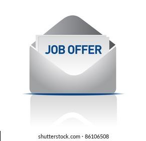 Job offer envelope design illustration