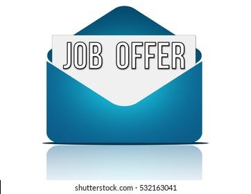 job offer - message envelope