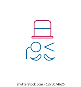Job resume, sir 2 colored line icon. Simple colored element icon. Job resume, sir outline symbol design icon from job resume set