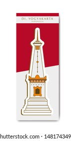 Jogja Monument with red and white background