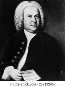 Johann Sebastian Bach (1685-1750), German composer, portrait by Elias Gottlieb Haussmann, circa 1746.