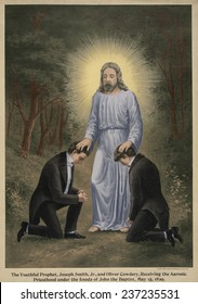 John the Baptist conferring the Aaronic priesthood to Joseph Smith and Oliver Cowdery This is one of the supernatural events of the Early Mormon Church.