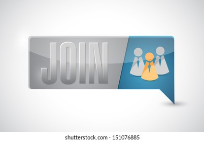 join button illustration design over a white background