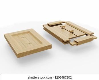 Joinery structures, Leonardo da Vinci, France Manuscript I / 0001r. 3D model.
