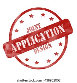 Joint Application Design Red Circle and Stars Stamp making a great concept.