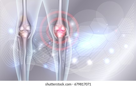 Joint treatment 3d illustration abstract background with beautiful glow and wave at the background