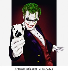 Joker Man With Cards