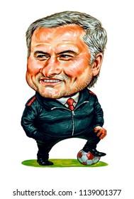 Jose Mario dos Santos Mourinho Felix, manager of the Portuguese football team.