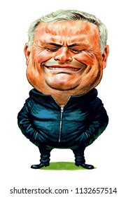Jose Mourinho is a Portuguese football manager and former football player. Illustration,Caricature,Design,July,12,2018