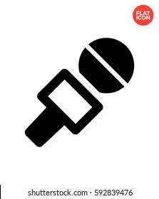 Journalist microphone Icon Flat Isolated Illustration