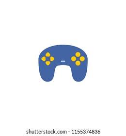 Joypad icon flat element.  illustration of joypad icon flat isolated on clean background for your web mobile app logo design.