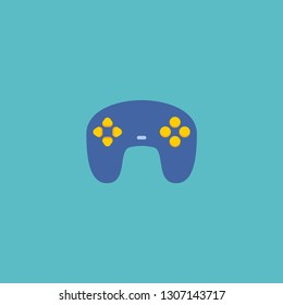 Joypad icon flat element.  illustration of joypad icon flat isolated on clean background for your web mobile app logo design.