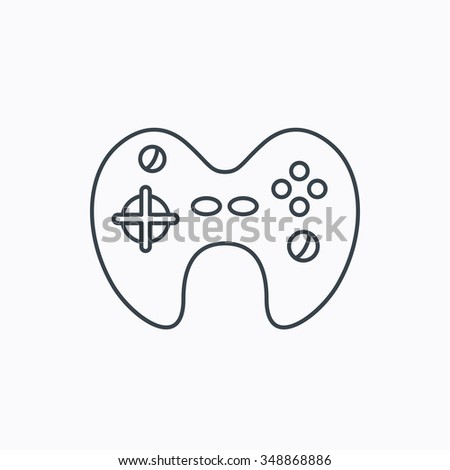 Joystick Icon Video Game Sign Linear Stock Illustration Royalty - Video game outline