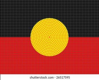 Jpeg aboriginal style flag design.