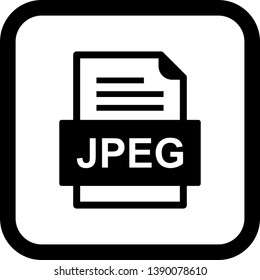 JPEG File Document Icon In Trendy Style Isolated Background