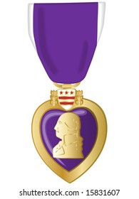 Jpeg illustration of purple heart medal.