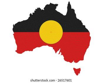 Jpeg isolated aboriginal style symbolic design.