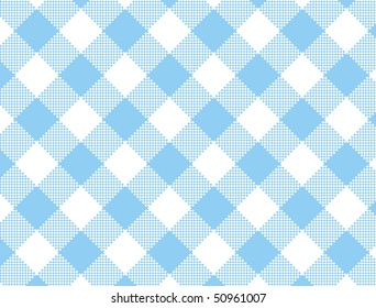 Jpg.  Woven blue and white gingham fabric.