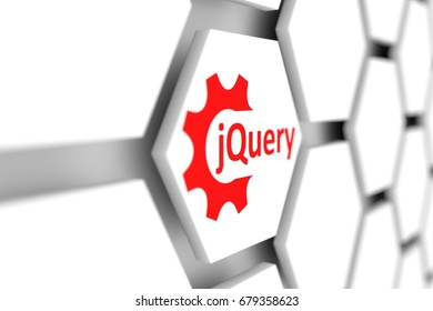 jQuery cell wheel gear blurred background 3d illustration