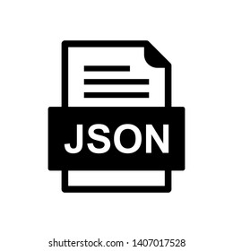 JSON File Document Icon In Trendy Style Isolated Background