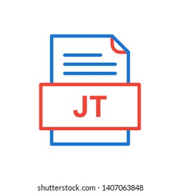 JT File Document Icon In Trendy Style Isolated Background