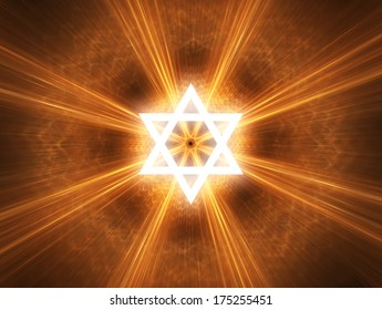 Judaism religious symbol - Star of David.