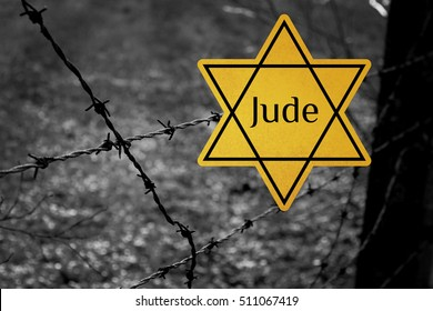 Jude Star Concentration Camp World War 2 Graphic WWII