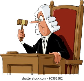A judge on a white background, raster