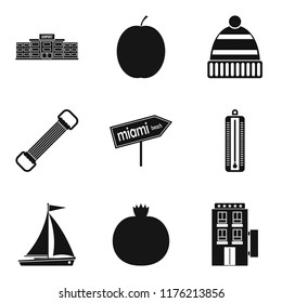 Judiciousness icons set. Simple set of 9 judiciousness icons for web isolated on white background