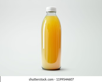 Juice Bottle. 3D rendering