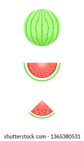 Juicy Watermelon, Watermelon slice vector