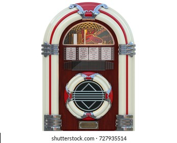 jukebox rockola music machine from a bar isolated 3d rendering