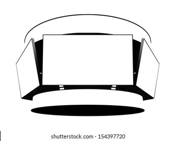Jumbotron with blank displays isolated on white