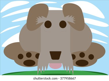Jumping Schnauzer illustration