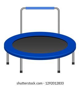 Jumping trampoline icon. Realistic illustration of jumping trampoline icon for web design