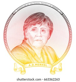 June 20, 2017 - Portrait of The current Federal Chancellor of the Federal Republic of Germany Angela Dorothea Merkel (born on 17 July 1954)