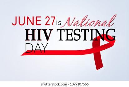 June 27 ia national HIV testing day