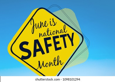 June is national safety month, accident prevention campaign banner