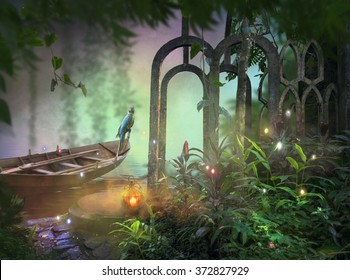 Jungle Path Fantasy Background