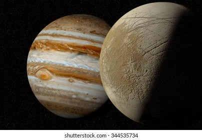 jupiter and moon europa Elements of this image furnished by NASA