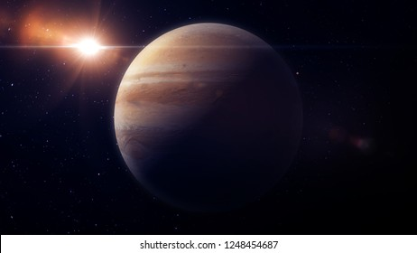 Jupiter planet 3d render for background