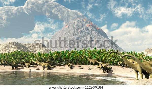 Jurassic park volcano