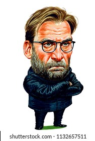 Jurgen Norbert Klopp is a German football manager. Illustration,Caricature,Design,July,12,2018