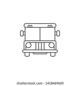 Justice prison bus outline icon. Elements of Law illustration line icon. Signs, symbols can be used for web, logo, mobile app, UI, UX