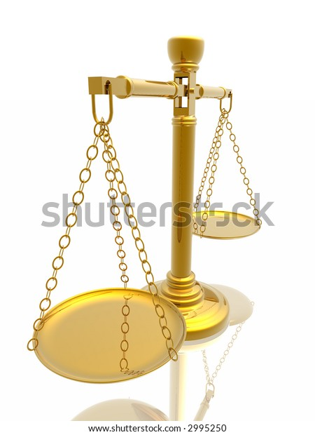 Justices scales (High Quality 3D Rendering)