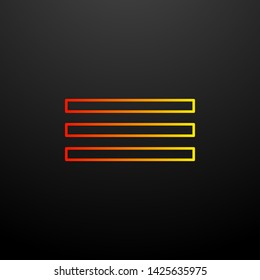 Justified nolan icon. Elements of image set. Simple icon for websites, web design, mobile app, info graphics