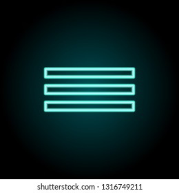 Justified sign icon. Elements of Image in neon style icons. Simple icon for websites, web design, mobile app, info graphics